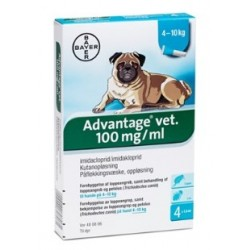 Advantage Hund 4-10 kg, 4x1ml-20