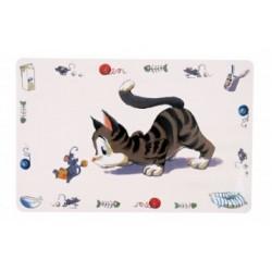 Dækkeserviet med kat 44 x 28 cm