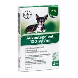 Advantage Hund 0-4 kg, 4 x 0,4ml