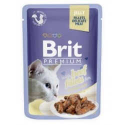 Brit Beef Fillets 85 g Jelly Adult Cat